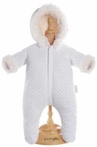 """コロールCorolle Mon Classique White Snowsuit for 17"""" Doll Fashions"""