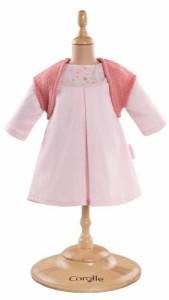 """コロールCorolle Mon Classique Pink Dress and Woolen Vest for 14"""" Doll Fashions"""