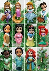 ディズニープリンセスDisney Toddler Baby Princess Set of 11 Christmas Tree Ornaments with Merida, Ari