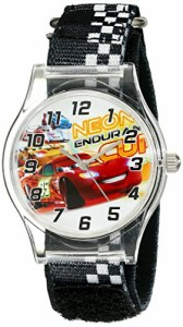【当店1年保証】ディズニーDisney Kids' W001709 Cars Analog Black Watch
