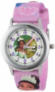 """【当店1年保証】ディズニーDisney Kids' W000860 """"Tiana"""" Stainless Steel Time Teacher Watch"""