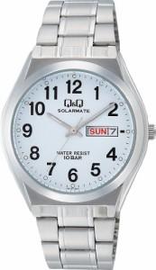 【当店1年保証】シチズンCITIZEN Q & Q watch SOLARMATE solar power analog display date display 10 A