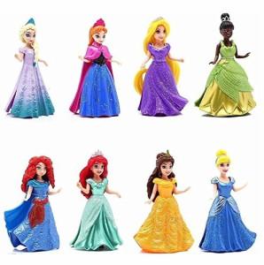 ディズニープリンセス8-PC Doll Gift Set: 3.75 Disney Princess, featuring Anna and Elsa from Frozen