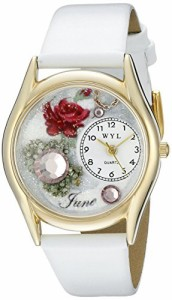 【当店1年保証】気まぐれな腕時計Whimsical Watches Women's C0910006 Classic Gold Birthstone: Ju