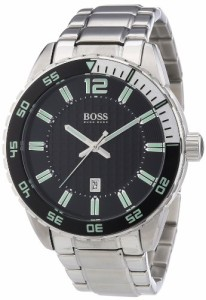 【当店1年保証】ヒューゴボスHugo Boss Black Dial Stainless Steel Mens Watch 1512889