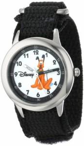 【当店1年保証】ディズニーDisney Kids' W000152 Pluto Stainless Steel Time Teacher Watch