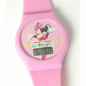 【当店1年保証】ディズニーDisney Mini Mouse Clubhouse Digital Pink Strap Girls Watch