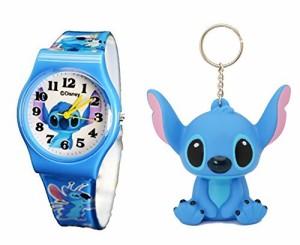 【当店1年保証】ディズニーDisney Lilo & Stitch Gift Set Watch & Keychain For Children .