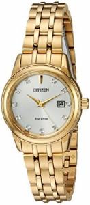 【当店1年保証】シチズンCitizen Women's 'Pairs' Quartz Stainless Steel Casual Watch, Color:Gold-To
