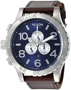 【当店1年保証】ニクソンNixon Men's '51-30 Chrono' Quartz Stainless Steel and Leather Watch, Color