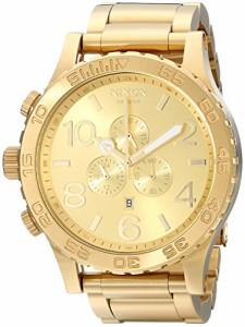 【当店1年保証】ニクソンNixon 51-30 Chrono A083897-00. All Gold Men's Watch (51mm. Gold Watch Fa