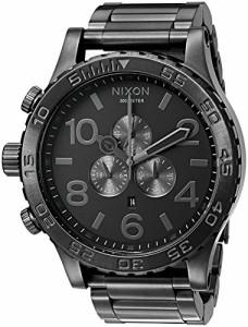 【当店1年保証】ニクソンNixon Men's '51-30 Chrono' Quartz Stainless Steel Casual Watch, Color:Grey
