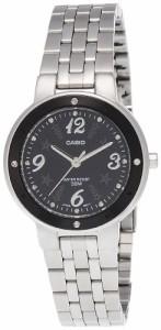 【当店1年保証】カシオCasio Women's LTP1318D-1AV Silver Stainless-Steel Quartz Watch with Black Dia