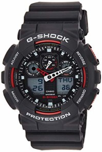 【当店1年保証】カシオG-Shock Ana-digi World Time Black Dial Men's watch #GA100-1A4