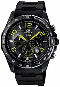 【当店1年保証】カシオCasio Men's Edifice EFR516PB-1A3V Black Resin Quartz Watch with Black Dial