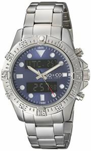 【当店1年保証】SO&CO ニューヨークSO&CO New York Men's 5017.2 Yacht Club Analog Digital Blue Dia