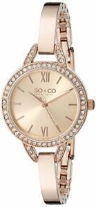 【当店1年保証】SO&CO ニューヨークSO&CO New York Women's 5088.4 SoHo Quartz Crystal Accent 16K R