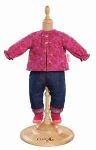 """コロールCorolle Mon Classique Grenadine Blouse and Denim Pants for 17"""" Doll Fashions"""