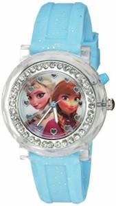 【当店1年保証】ディズニーDisney Kids' FZN3564 Frozen Anna & Elsa Flashing Blue Watch