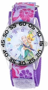 "【当店1年保証】ディズニーDisney Kids' W001187 ""Time Teacher"" Watch with Floral Nylon Band"