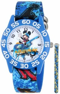 "【当店1年保証】ディズニーDisney Kids' W001178 ""Mickey Mouse"" Watch with Blue Nylon Band"
