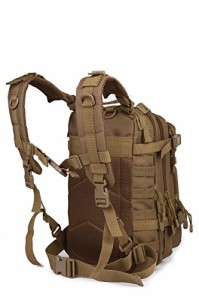 ミリタリーバックパックARMYCAMOUSA Military Tactical Backpack, Small 3 Day Army Molle Assault Rucksa