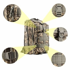 ミリタリーバックパックMilitary Tactical Backpack,TOPQSC Waterproof 600D Oxford Fabric Outdoor Tacti