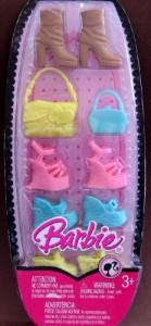 バービーBarbie Trend Accessories Pack w Shoes, Boots & Purses (2008)
