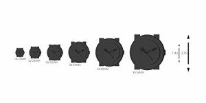 【当店1年保証】マルコMULCO Unisex MW3-12140-025 Ilusion Analog Display Swiss Quartz Black Watch