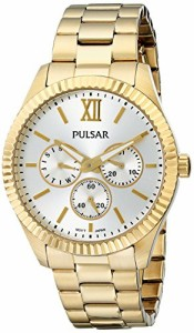 【当店1年保証】パルサーPulsar Women's PP6140 Business Collection Gold-Tone Stainless Steel Watch