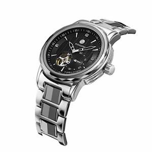【当店1年保証】ビンルンBinlun Large Face Skeleton Watch Self-winding Water Resistant Automatic Wa