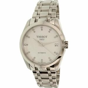 【当店1年保証】ティソTissot Couturier ladies watch Automatic with Diamomd Markers T035.207.11.116.
