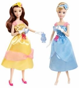 ディズニープリンセスDisney Princess Tea Time Belle and Cinderella Doll Giftset