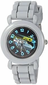 【当店1年保証】ディズニーDisney Boy's 'Cars 3' Quartz Plastic and Silicone Casual Watch, Color:G