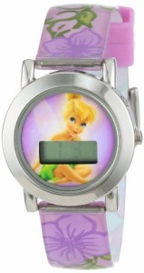 【当店1年保証】ディズニーDisney Tinker Bell Kid's TNK402Purple and Pink LCD Watch