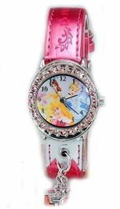 【当店1年保証】ディズニーDisney Women's Tinkerbell Pink Sunray Dial Pink Strap Watch