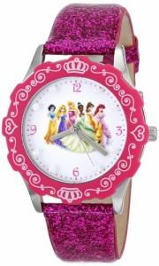 【当店1年保証】ディズニーDisney Kids' W000405 Tween Princess Glitz Stainless Steel Watch with Gl