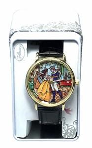 【当店1年保証】ディズニーDisney Beauty and the Beast Analog Watch - Black Band