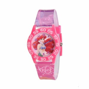"【当店1年保証】ディズニーDisney Kids' W001191 ""Ariel"" Watch with Pink Plastic Band"