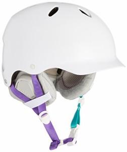 ウォーターヘルメットBern Lenox Snowboard Helmet Womens (Satin White, XS/S)