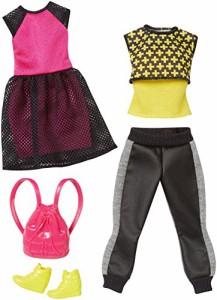 バービーBarbie Fashion 2 Pack Casual - Black, Pink & Yellow