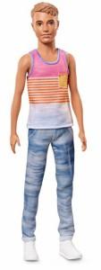 バービーBarbie Ken Fashionistas Hyped Stripes Doll, Slim