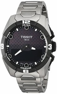 【当店1年保証】ティソTissot Men's Swiss Quartz Titanium Casual Watch (Model: T0914204405100)