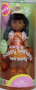 バービーBarbie Kelly Happy Birthday Tea Party NIA Doll AA LEMON HEAD Style (2003)