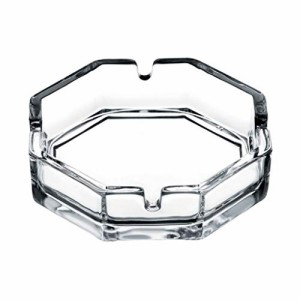 灰皿Pasabahce Octagonal Glass Cigarette Ashtray (Pack of 2) -