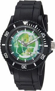 【当店1年保証】マーベルコミックMARVEL Men's Classic' Quartz Plastic Casual Watch, Color:Black
