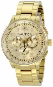 【当店1年保証】ノーティカNautica Men's N26533M OCN 38 MID Br. Chronograph Watch