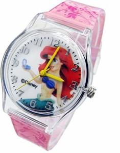 """【当店1年保証】ディズニーDisney Princess Mermaid Watch For Kids .Large Analog Dial. 9""""L Band."""