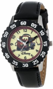 【当店1年保証】ディズニーDisney Kids' W000087 Cars Stainless Steel Time Teacher Watch