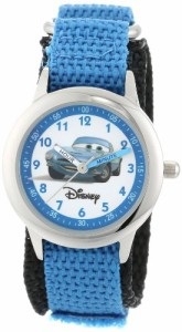 "【当店1年保証】ディズニーDisney Kids' W000096 ""Cars"" Stainless Steel Time Teacher Watch"
